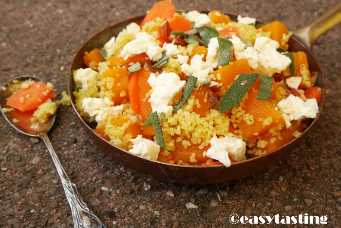 Rezept Couscous Salat Kürbis Clean Eating