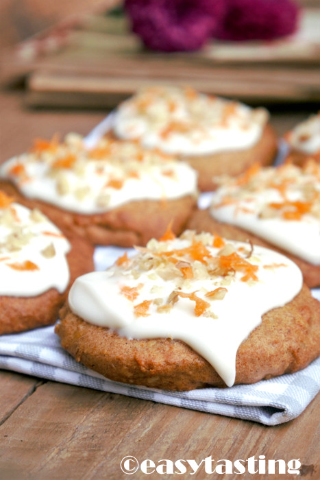 Cookies Rezept Carrot Cake mit Frosting